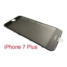 Vidro do iPhone 7 Plus com estrutura OCA e filme polarizado Original preto