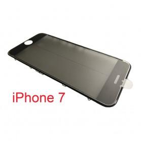 Vidro do iPhone 7 com estrutura OCA e filme polarizado Original preto