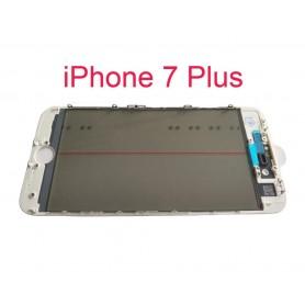 Vidro do iPhone 7 Plus com estrutura OCA e filme polarizado Original branco