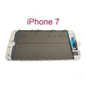 Vidro do iPhone 7 com estrutura OCA e filme polarizado Original branco