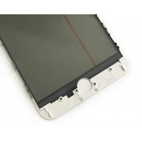 Vidro do iPhone 6 com estrutura OCA e filme polarizado Original branco