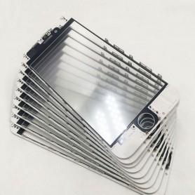 Vidro do iPhone 6S com estrutura OCA e filme polarizado Original branco
