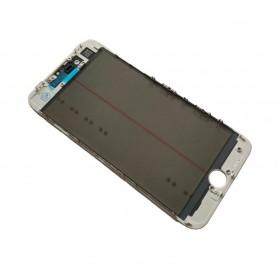 Vidro do iPhone 8 Plus com estrutura OCA e filme polarizado Original branco
