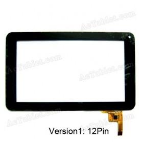 Tela de toque para tablet Momo 9 conector de 12 pinos 300-N3803B-B00-V1.0