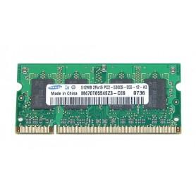 MEMÓRIA SODIMM 512MB DDR2 667MHz M470T6554EZ3-CE6