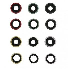 Vidro de câmera completo com moldura iPhone 11 2 unidades pretas