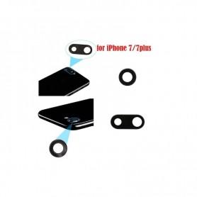 Vidro completo para câmera com moldura preta para iPhone 7