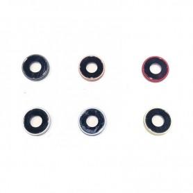 Vidro completo para câmera com moldura preta para iPhone XR