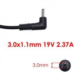 Carregador conector 3.0*1.1 mm Saída 19V 2.37 A