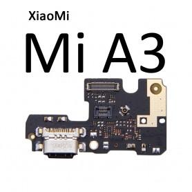 Cabo flex e conector carga Xiaomi Mi A3 miA3 placa USB