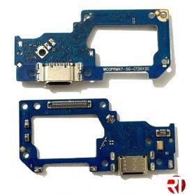 Conector carga Realme X7 5G placa flex compatível