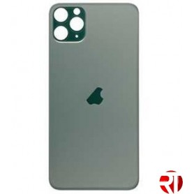 Tampa traseira iPhone 11 Pro Max cristal só verde (fácil instalação)(CE) reposição