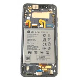 Quadro frontal LG G8s ThinQ desmontagem