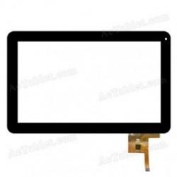 WJ-DR10011 V2 Tela sensível ao toque MF-187-101F-7 vidro digitalizador
