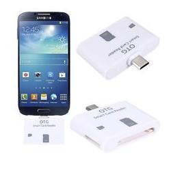 Adaptador leitor SD e Micro SD para Micro USB OTG