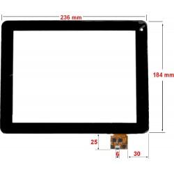 Tela sensível ao toque Carrefour CT1010 vidro digitalizador