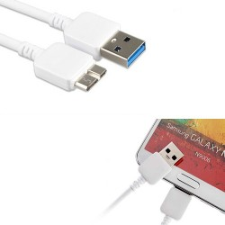 Cabo dados USB 3.0 Samsung Galaxy S5 NOTE 3 N9000 N9002 N9005 GT i9600 G900 i9605 G900F
