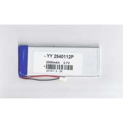 Bateria phablet 3,7 v 2000 mAh 112 x 41 x 2mm