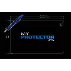 Protetor de tela do tablet 10 polegadas 257 x 159mm vidro flexível