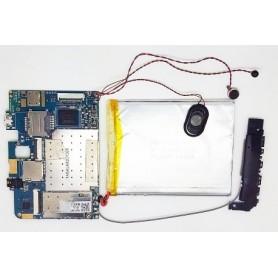 Placa-mãe ELINK-MV706Z_V2 com bateria, cabo de antena e alto-falante Wolder miTab Freedom